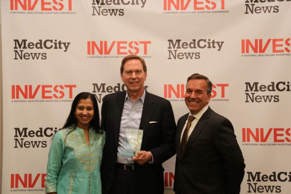 Who won the MedCity INVEST Pitch Perfect competition?