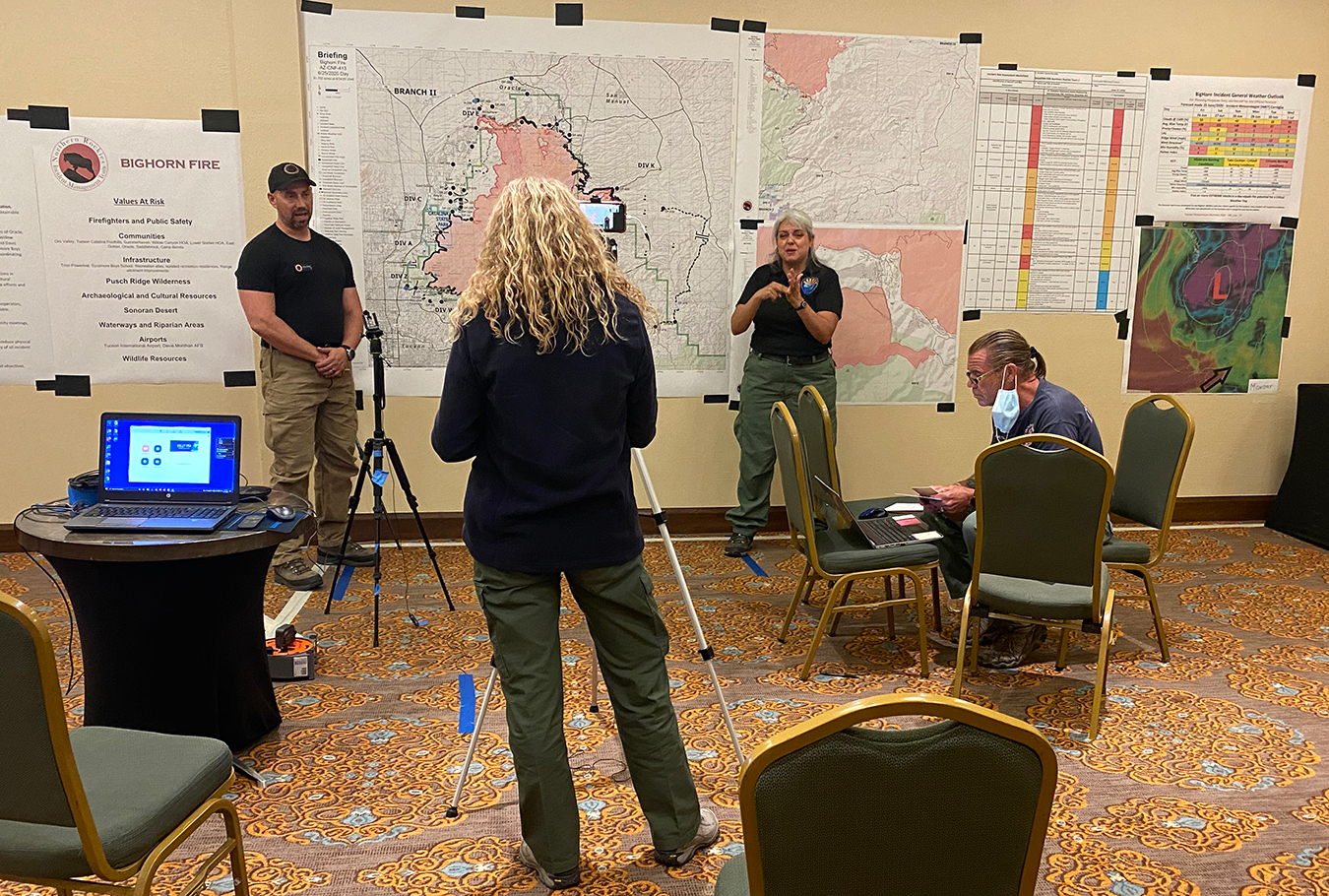 COVID Plans Put to Test as Firefighters Crowd Camps for Peak Wildfire Season