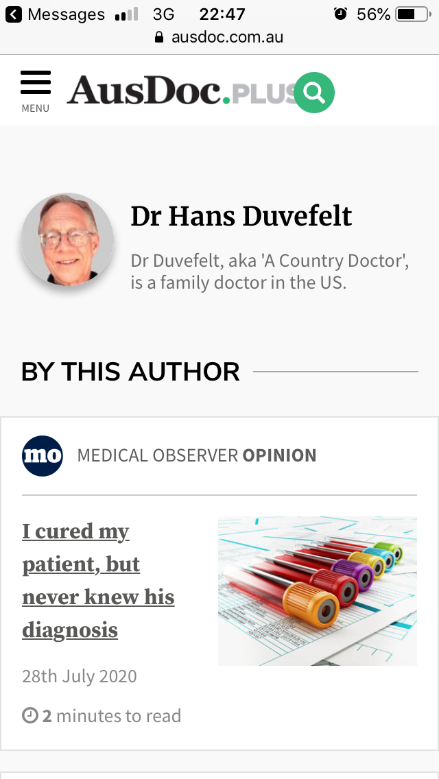 I Cured My Patient, But What Was His Diagnosis?