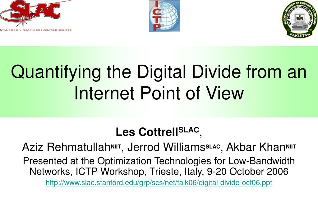 Quantifying the digital divide