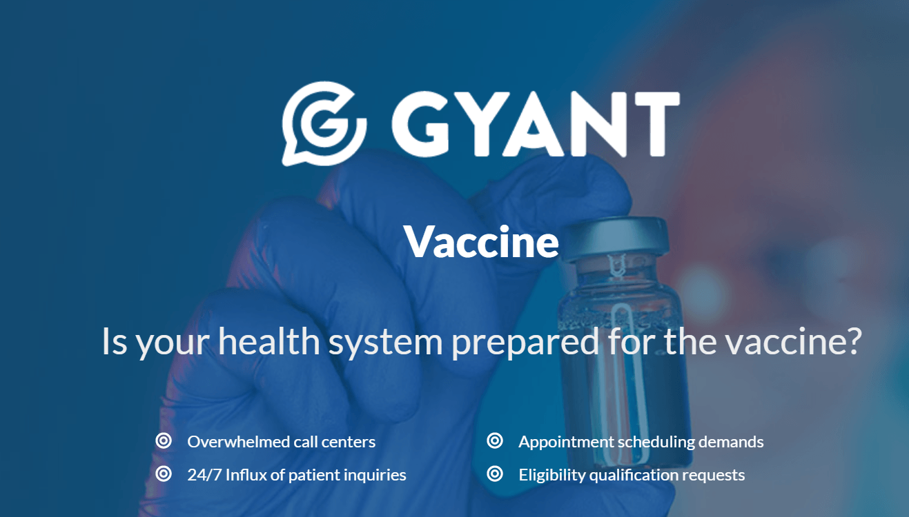 GYANT Develops First-to-Market COVID-19 Vaccine Care Navigation Tool