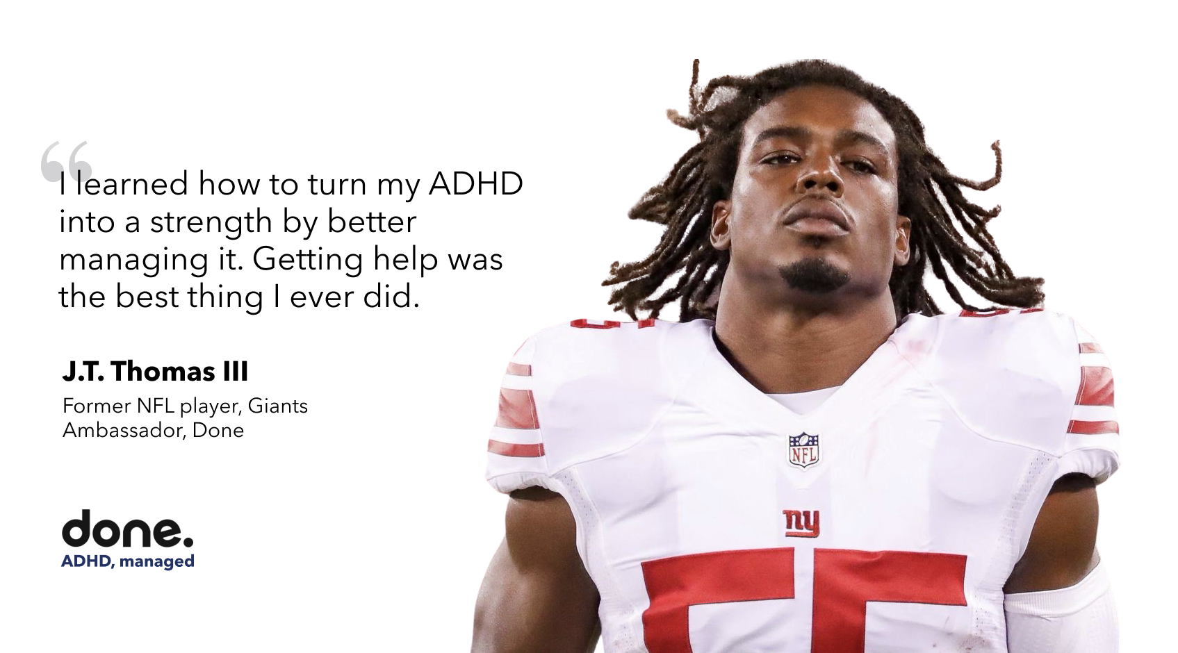 Retired NFL Linebacker Overcomes ADHD, Invests in Mental Health Platform Done
